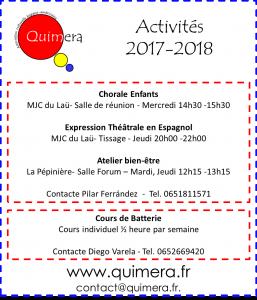 activites 2017-2018